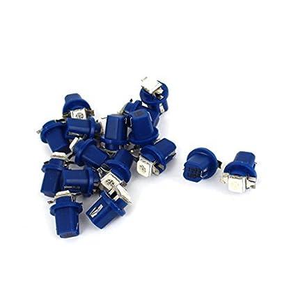 16 piezas de coches Azul B8.5D 5050 SMD LED de la lámpara de señal