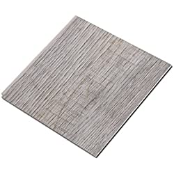 "Cali Bamboo - Cali Vinyl Pro Commercial Vinyl Flooring, Extra Wide, Nantucket Harbor - Distressed Gray Wood Grain - Sample Size 6"" L x 7 1/8"" W x 5.5mm H"