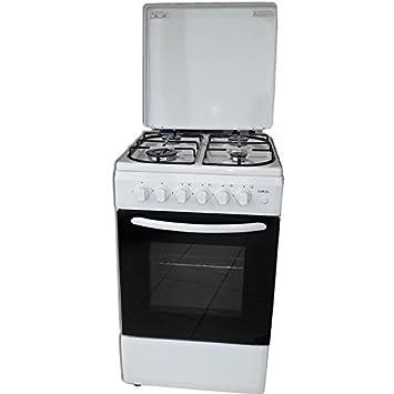 Cocina para horno a libre instalación metano y gpl 4 fuegos grill 50 x 50 cm