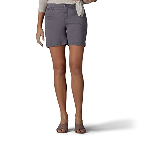 LEE Women's Straight Fit Tailored Chino Short, Vintage Green/Gray, (Golf Belt Watch)