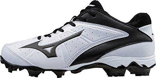 Elite Fast Finch Mizuno Molded Cleat Softball Spike 9 Pitch Weiß ADV 2 schwarz Women's xwA6R