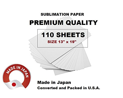 Sublimation Paper - MADE IN JAPAN - size 13'' x 19'' (110 SHEETS) for Sawgrass Virtuoso, Ricoh and Epson printers. HIGH DEFINITION SUBLIMATION PAPER.