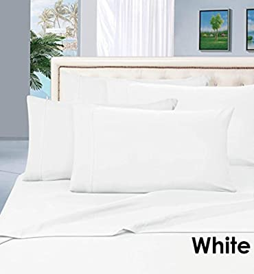 LACY - SOLID Linen 400 Thread Count { Color } Egyptian Cotton Sheet Set Mattress 20 Inches Depth, All Size Set of 4-PCs Sheets By Chic's Brand