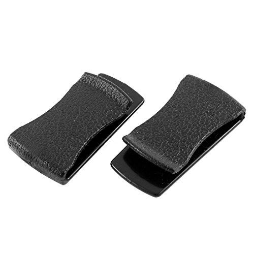 uxcell self adhesive car hook card clip holder black 2pcs clamps automotive parts. Black Bedroom Furniture Sets. Home Design Ideas
