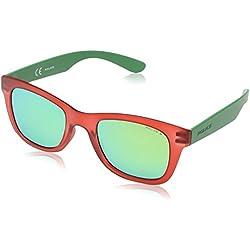 Police S1944 50Z75V Wayfarer - anteojos de sol, color rojo, verde, rojo, azul (Red,Green & Blue Mirrored), 50 mm