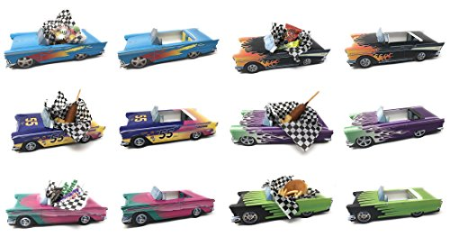12 Classic Car Party Food Boxes - Hot Rod Collection (2 ea.) (For Party Sale Centerpieces)