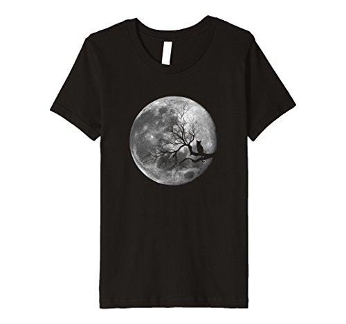 Kids Halloween Black Cat Moon Novelty PREMIUM t-shirt 8 Black