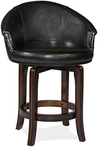 Hillsdale Furniture Dartford Swivel Counter Height Stool, Dark Brown Cherry