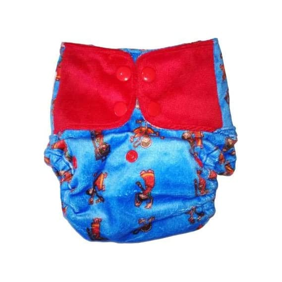 SuperBottoms Cover Diaper - Reusable Cloth Diaper with 1 Dry Feel Pad [Day Time Use] (Hip hop Aunty)