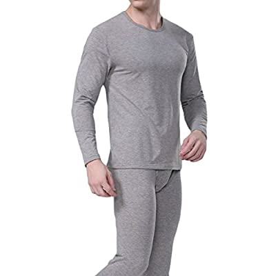 Cheap Pandapang Mens Winter Warm Base Layer Cotton Soft Thermal Underwear Set free shipping