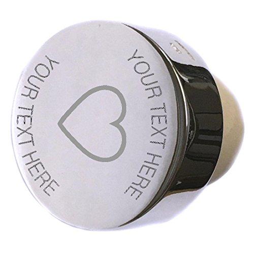 - Cupid Love Heart Sterling Silver Bottle Stopper Engraved
