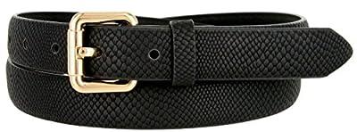 "Skinny Women's Snakeskin Embossed Leather Casual Dress Fashion Belt 1"" 7085"