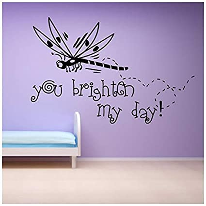 Amazoncom Banytree You Brighten My Day Wall Sticker Nursery Quotes