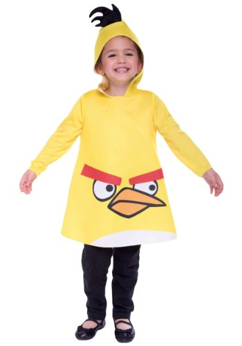 Pets In Costumes Videos (Angry Birds Yellow Costume - 3T/4T)