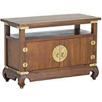 NES Furniture Nes Fine Handcrafted Furniture Solid Mahogany Wood Ming TV Stand - 38, Light Pecan
