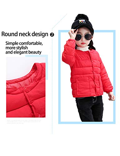 Lightweight Boys Slim Child Sleeve Warm BESBOMIG Round Coats Outwear Brown Girls Cotton Long for Neck fit Baby Jacket Casual qAZHW7ZnEz