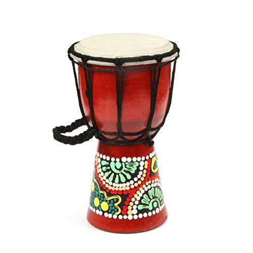 - Hand Painted Djembe Drum~ West African Bongo Drum for Children Kid Toys (W4.3'' X H7.7'')