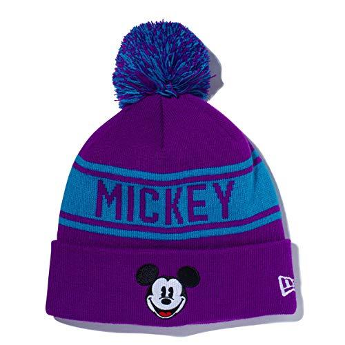 (ニューエラ) NEW ERA ディズニー コラボ ニット帽 ポンポン MICKEY MOUSE グレープ/ターコイズ DISNEY FREE