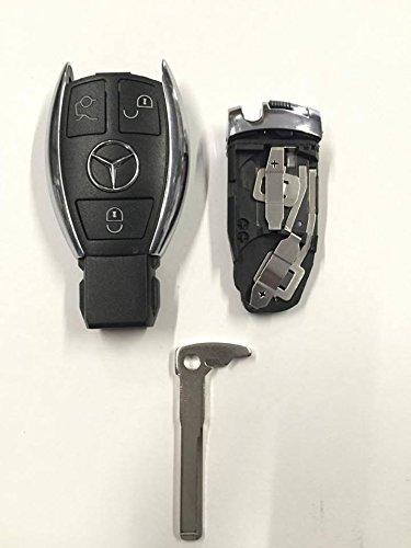 BFCFerramenta - Carcasa completa con 3 teclas para mando a distancia de Mercedes Benz Clase B, C, E, S, CLS y CLK