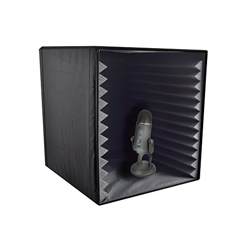 pyle-psib27-sound-recording-booth-box-studio-soundproofing-foam-shield-isolation-filter-cube