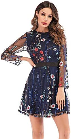 Milumia Womens Floral Embroidered Sleeve product image