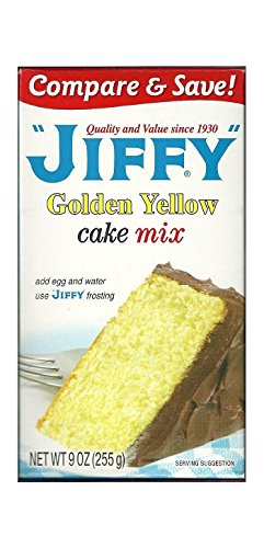 Jiffy Golden Yellow Cake Mix 9-oz Boxes (Pack of 6)