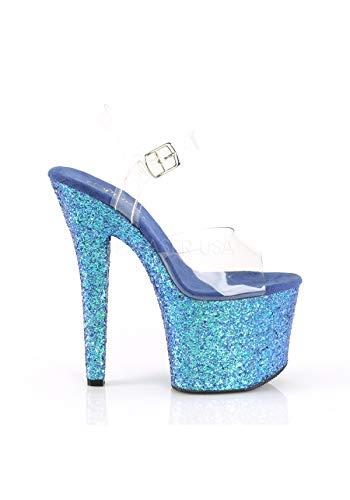 Holo blue Radiant 708lg Pleaser Clr Glitter w6ngSSIqtC