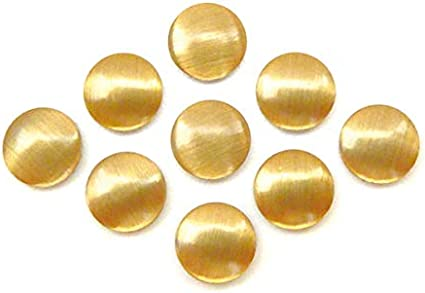 Nailheads zum Aufb/ügeln 100 St/ück Hotfix Metall-Nieten Dreieck Gold ca. 8 mm