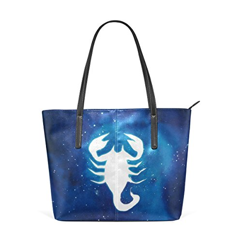LEISISI Scorpio Women's Leather Tote Shoulder Bags Handbags