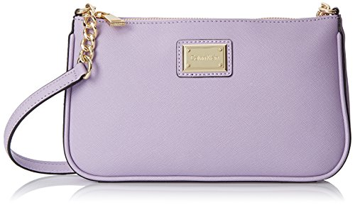 Calvin Klein Saffiano Demi Shoulder Bag, Iris, One (Demi Satchel Bag)