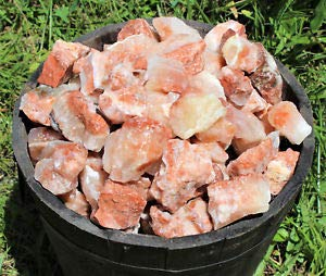 2000 Carat Bulk Lot Natural Rough Tri Color Calcite Crystals (400 Gm Red Brown) Natural Crystals & Rocks for Cabbing, Cutting, Lapidary, Tumbling, Polishing, Wire Wrapping, Wicca