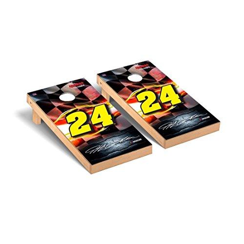 Victory Tailgate NASCAR Jeff Gordon #24 Desktop Cornhole Game Set Racing Flag Version 24 Nascar Bean Bag