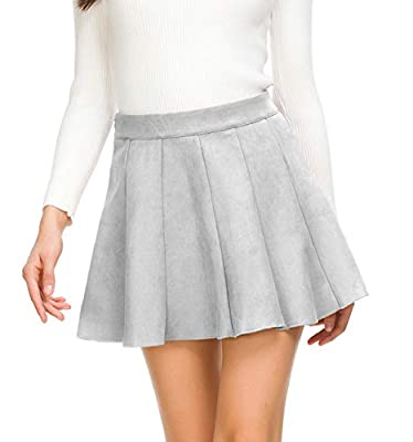 JOAUR Women Mini Pleated Skirt for Autumn Winter High Waist Flared Skater Skirt