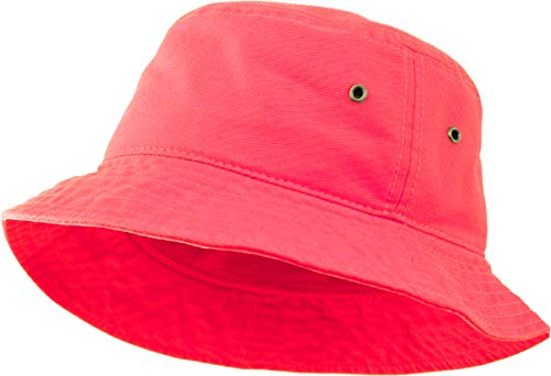 - SH-220-78-SM Vintage Fitted Safari Bucket Hat: Neon Pink (S/M)