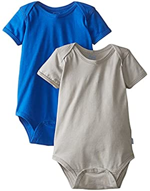 Baby Short Sleeve Organic Adjustable Bodysuit (Pack of 2)