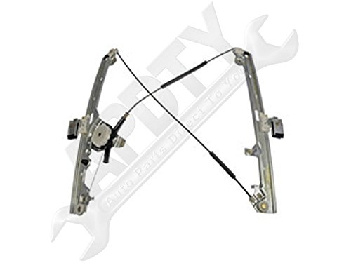 APDTY 851629 Manual Window Regulator Front Right Passenger-Side (Non-Powered; Hand Crank Type) (Replaces 15871125, 15077852)