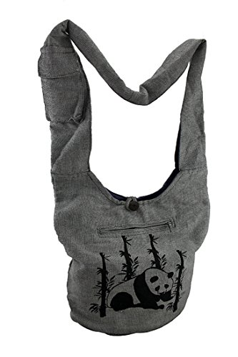 Body Bag Cotton Panda Bags Womens Gray Cross Crossbody Cotton Bamboo Evq1gvw