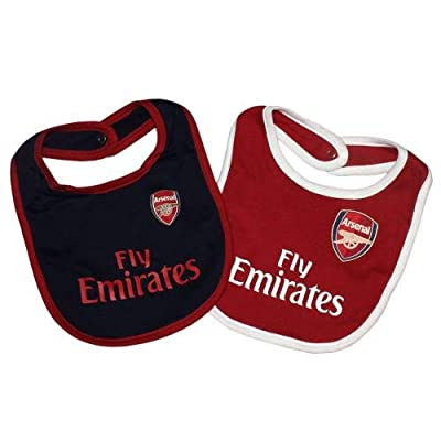 Arsenal F.C. Official Football Teams Baby 2 Pack Bibs