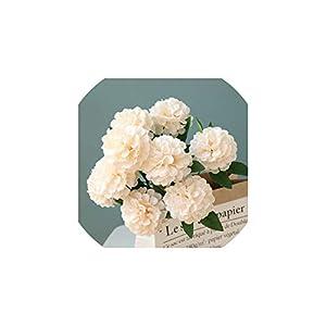 V-K-YA 52cm Height 10 Heads Artificial Hydrangea Fake Flower Wedding Party Christmas Decoration,Champange 14