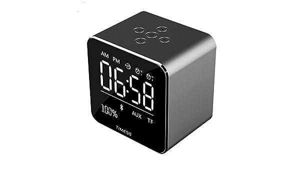 gfjfd Reloj Despertador Inalámbrico Bluetooth Altavoz ...
