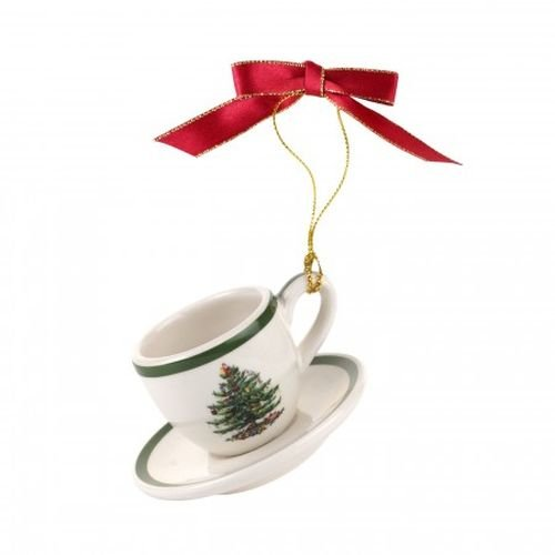 Spode Christmas Tree Ornament Teacup & Saucer