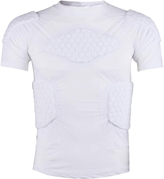 RED SHORE Camisa de compresión Acolchada Hombros en el Pecho, Hombros Costillas y Protector de la Espina Dorsal Protección Deportiva Entrenamiento Seguridad Camisetas para fútbol Paintball: Amazon.es: Deportes y aire libre
