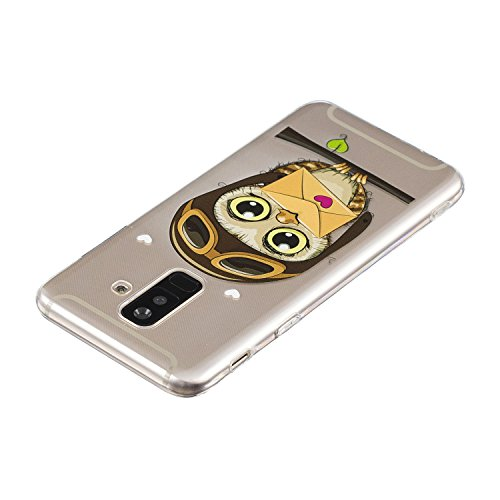 de 2018 Galaxy cover Etui case TPU Plus Housse Silicone Coque Samsung en de Transparente Samsung enveloppe Protection Étui Coque protection Hibou Silicone Etui Shell Flexible Galaxy BONROY A6 pour Coque Téléphone nfIq1U