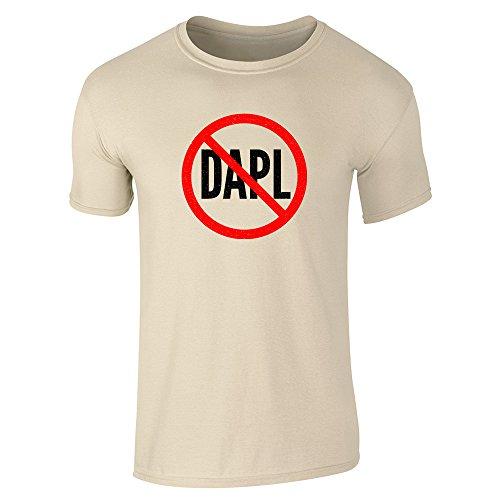 Pop Threads No To Dakota Access Pipeline Dapl Sand 3Xl Short Sleeve T Shirt