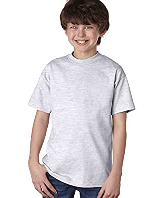 Hanes Youth 6.1 oz. Tagless T-Shirt, XS, ASH