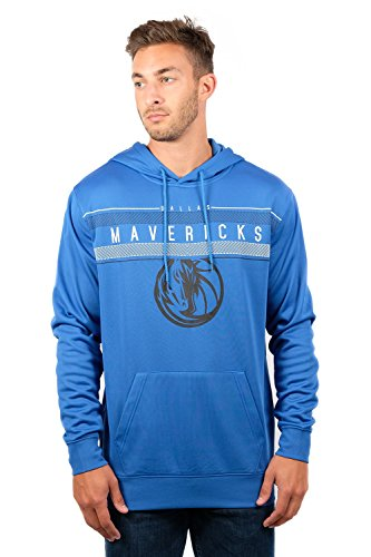 UNK NBA Men's Fleece Hoodie Pullover Sweatshirt Poly Midtown, Deep Blue, Medium