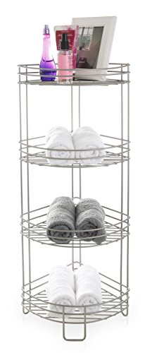 BINO 'Monaco' Rust-Resistant 4-Tier Corner Spa Tower, Nickel (Tension Tower)