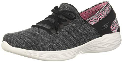 Skechers Women's You-Attract Sneaker Black/Pink 9.5 M US