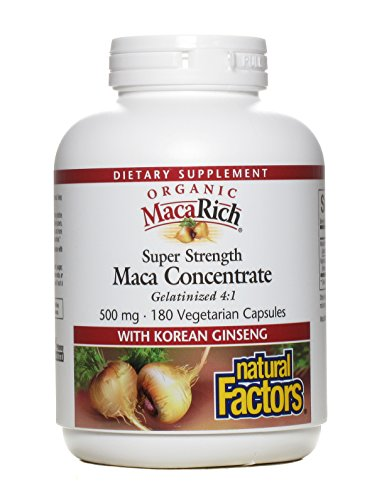 UPC 068958045467, Natural Factors - MacaRich Super Strength Power Maca, Antioxidant Support, 180 Vegetarian Capsules