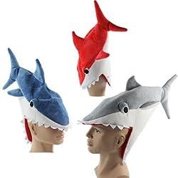 Halloween funny originality Aquarium shark piranha fish hat plush toy Stuffed Plush Cap Cosplay Hat for children Adult gift 15